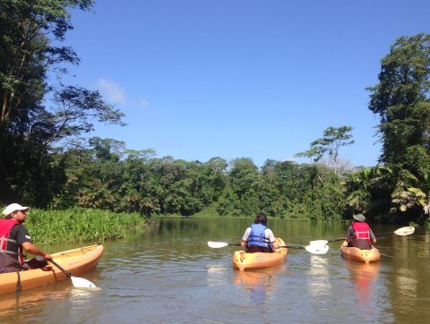 Kayaking in Costa Rica near Heredia