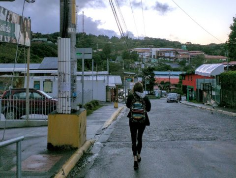 Walking Home in Heredia Costa Rica