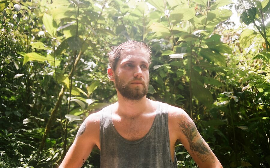 tico lingo student wet after hike in costa rica