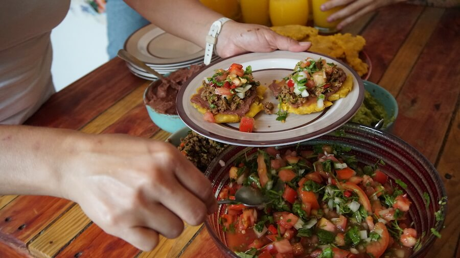 Typical Costa Rican meals served at Homestay