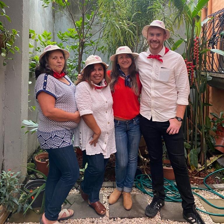 Tico Lingo Staff on the back Patio