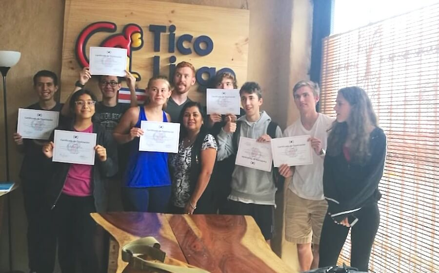 Graduation day at Tico Lingo teen Spanish immersion camp