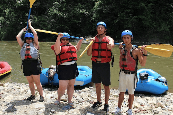 Rafting trip_Teen Spanish Summer Camp in Costa Rica