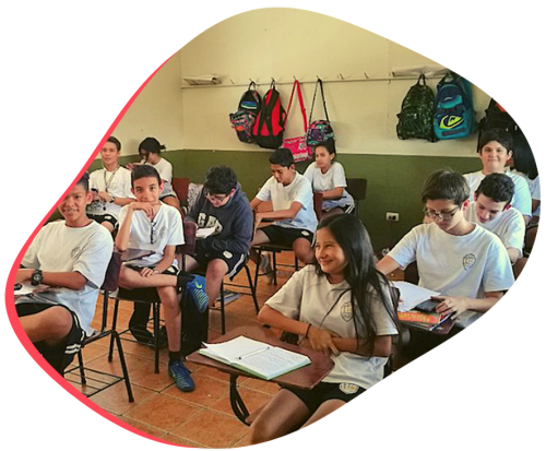 Volunteer in Costa Rica teaching English at a local high school in Heredia